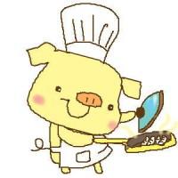 餃子を焼く子豚さん